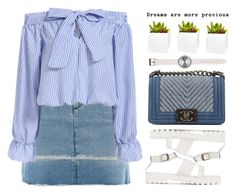 """but Dreams are more precious.."" by mihreta-m ❤ liked on Polyvore featuring MM6 Maison Margiela, Chanel, Uniform Wares and Shop Succulents"