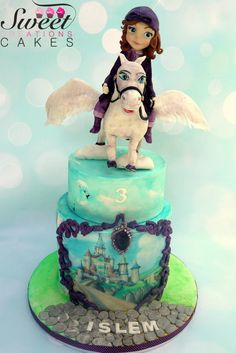 Sofia the first and Minimus her Flying Horse  - Cake by Sweet Creations Cakes
