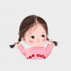 Cartoon Girl Images, Girl Cartoon Characters, Cute Cartoon Drawings, Cute Cartoon Pictures, Cute Cartoon Girl, Baby Cartoon, Kawaii Drawings, Cartoon Pics, Cartoon Art