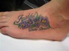African Violet Tattoo Hautedraws