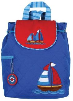 Stephen Joseph Boys 2-7 Boy's Quilted Backpack, Nautical, One Size Stephen Joseph. $24.00. 100% cotton. Machine washable: cold water on gentle cycle. Perfect for monogramming. Fully lined with easy magnetic snap closure