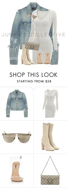"""""""Untitled #838"""" by junkiescollective ❤ liked on Polyvore featuring Yves Saint Laurent, Doublju, Balmain, adidas Originals and Gucci"""