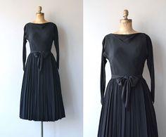 Robe Claire McCardell   robe vintage des années 1950   robe noire des années 50