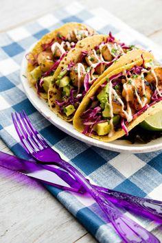 honey lime tequila prawn tacos