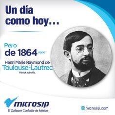 Un día como hoy, 24 de noviembre, pero de 1864 nace Henri Marie Raymond de Toulouse-Lautrec, pintor francés.