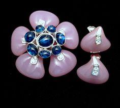 KJL Kenneth J. Lane Duchess of Windsor Lavender Pendant Enhancer Earrings