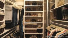 When I was laying out the plan for my Master Closet Makeover and looking to create a new closet space for my husband, I did a lot of homework. Master Closet, Closet Bedroom, Closet Space, Walk In Closet, Home Bedroom, Closet Remodel, Closet Organization, Organizing, Dream Closets