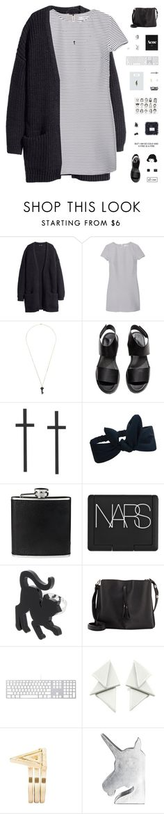 """ACE // yoins #16"" by c-hristinep ❤ liked on Polyvore featuring H&M, MANGO, Kristin Hanson, BLACK BROWN 1826, NARS Cosmetics, Maison Margiela, CB2, women's clothing, women and female"