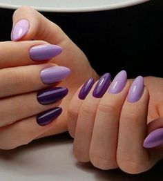 100 Long Nail Designs 2019 Ideas in our App. New manicure ideas for long nails. Trends 2019 in nails nail design Popular Nail Designs, Fall Nail Designs, Acrylic Nail Designs, Art Designs, Design Ideas, Gradient Nails, Cute Acrylic Nails, Purple Nails, City Nails