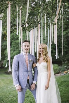 ceremony tree strung with festive ribbons