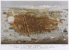 The City of San Francisco, panorama by Currier & Ives, 1878