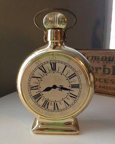 Avon Clock bottle vintage avon by TheZenSquirrel on Etsy