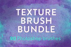 Texture Photoshop brush bundle by Gemma Garner on @creativework247