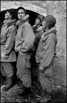 Robert Capa - Italy. 1944. Troops of the US/Canadian First Special Service Force.