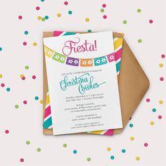 Fiesta Invitation Fiesta Bridal Shower by GreyStreetGraphics