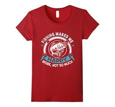 ac5bf4d29 Amazon.com: Fishing Makes Me Happy T-Shirt: Clothing. Men And WomenT Shirts  ...