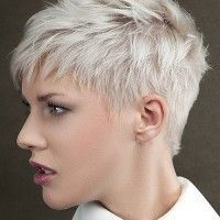 short blonde hairstyle
