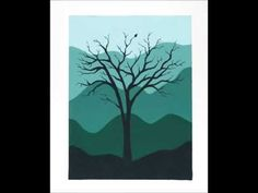 Easy Silhouette Painting - Acrylic Painting Tutorial - YouTube