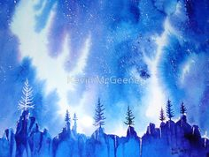 aurora night....... by Kevin McGeeney on redbubble