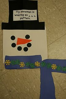 Cute snowman patterning activity! - Re-pinned by @PediaStaff – Please Visit http://ht.ly/63sNt for all our pediatric therapy pins