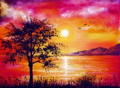 Sunset Tree by =AnnMarieBone on deviantART