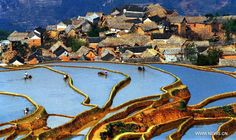 The UNESCO's World Heritage Committee inscribed China's cultural landscape of Honghe Hani Rice Terraces onto the prestigious World Heritage List on Saturday June 22th 2013, bringing the total number of World Heritage Sites in China to 45