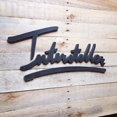 """Hand lettering scrolled out of 1/2"""" plywood - rustic_overtones's photo on Instagram"""
