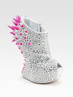 Giuseppe Zanotti Mixed Media Curved-Wedge Platform Ankle Boots