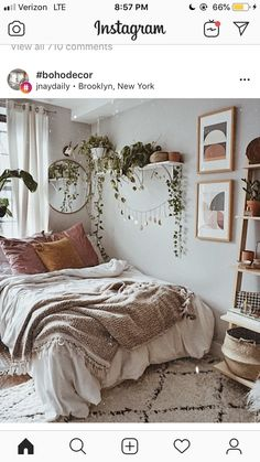 Schlafzimmer - Vintage Bohemian Home Room Ideas Bedroom, Home Bedroom, Bedroom Inspo, Bedrooms, Bedroom Apartment, Ikea Boho Bedroom, Bohemian Bedroom Design, Bedroom Furniture, Dream Rooms