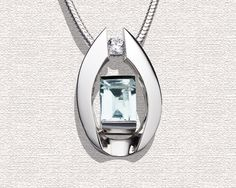 Aquamarine Pendant Necklace - March Birthstone - Wedding - Gemstone Jewelry - Argentium Silver - Designer Jewelry - 3462. $297.00, via Etsy.