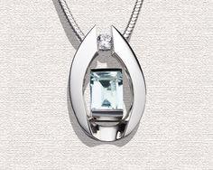 Aquamarine Pendant Necklace - March Birthstone - Wedding - Gemstone Jewelry - Argentium Silver - Designer Jewelry - 3462. $297.00, via Etsy.