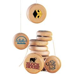 Personalised Eco Wooden Yoyo made from sustainable wood that is sourced from well managed forests.