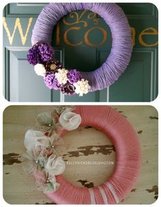 50 Beautiful Yarn Craft Tutorials {yarn wreaths, pom poms, decor} - Tip Junkie