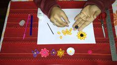 How to Make Sunflower Quilling Flower (+playlist) Quiling Paper, Quilling Paper Craft, Paper Crafts, How To Make Sunflower, Plastic Cutting Board, Diy, Learning, Flowers, Artwork