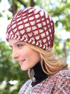 Lattice Hat | Yarn | Free Crochet Patterns | Yarnspirations