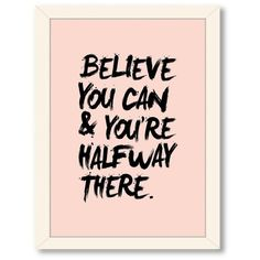Motivated Type Believe You Can Textual Art on Gallery Wrapped Canvas ($110) ❤ liked on Polyvore featuring home, home decor, wall art, inspirational canvas wall art, canvas home decor, motivational canvas wall art, inspirational wall art and inspirational home decor