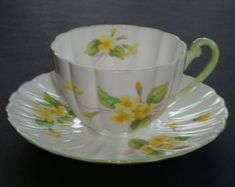 Shelley PRIMROSE Tea Cup and Saucer ~ #13430