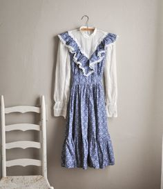 Vintage 1970s Dress  Lace Victorian High Colar Mini Dress Gunne Sax style by drowsySwords on Etsy