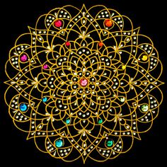 """Rain and Sun"" mandala - art by Prem Shashi Mandala Gallery (Mandalascapes)"