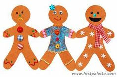Gingerbread man chain craft