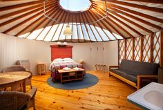 """Read more about our Yurts orCampsitesor go straight to theReservation System where you cancheck availability& make a booking. Most all our 'lodging options"""" have strict occupancy limits of two guests only, regardless of age. We welcome children 6 years of age and older in our two family yurts.We strive to maintain a peaceful & romantic"""