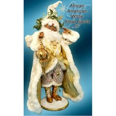 African-american White Christmas Santa - 28 Inches (RET)