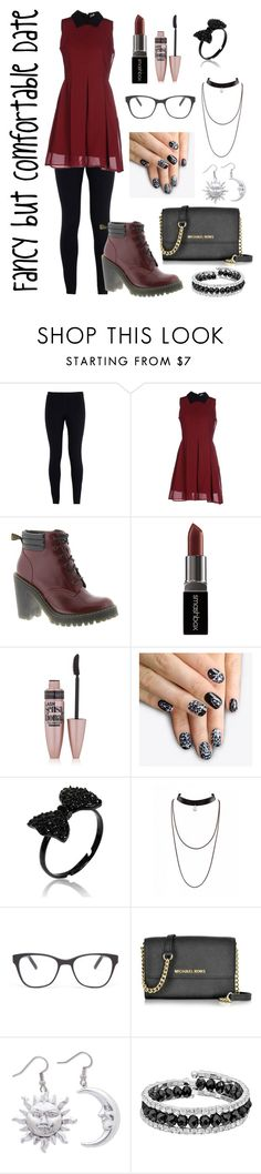 """Fancy but Comfortable Date"" by gamergirl45723 ❤ liked on Polyvore featuring NIKE, Anonyme Designers, Dr. Martens, Smashbox, Maybelline, alfa.K, Prism, Michael Kors and Franco Gia"