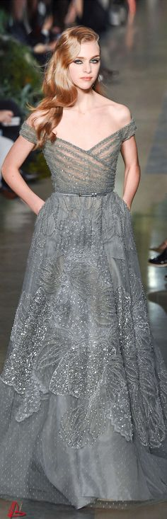 Gown | By Elie Saab | #gray
