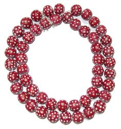 Terra Cotta African trade beads, resembling the old Venetian Skunk beads.