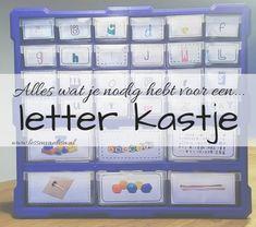 Lessen van Lisa - Taal Alphabet Activities, Activities For Kids, Becoming A Teacher, Preschool At Home, Child Development, Mood Boards, Spelling, Homeschool, Classroom