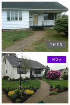 before and after. simple curb appeal updates make a world of difference!