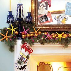 Decorate with Color- dyed starfish!
