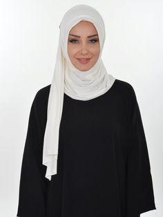 Practical Cotton Shawl, Ready Turban, Hijab, Tesettur, Shawl, PS-0013 White by MelikesDesign on Etsy