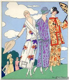 Beer (Couture) Martial Et Armand, Doeuillet 1923 Summer Dresses, Fashion Illustration, Pochoir